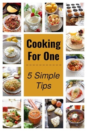 Cooking for One Simple Tips book link