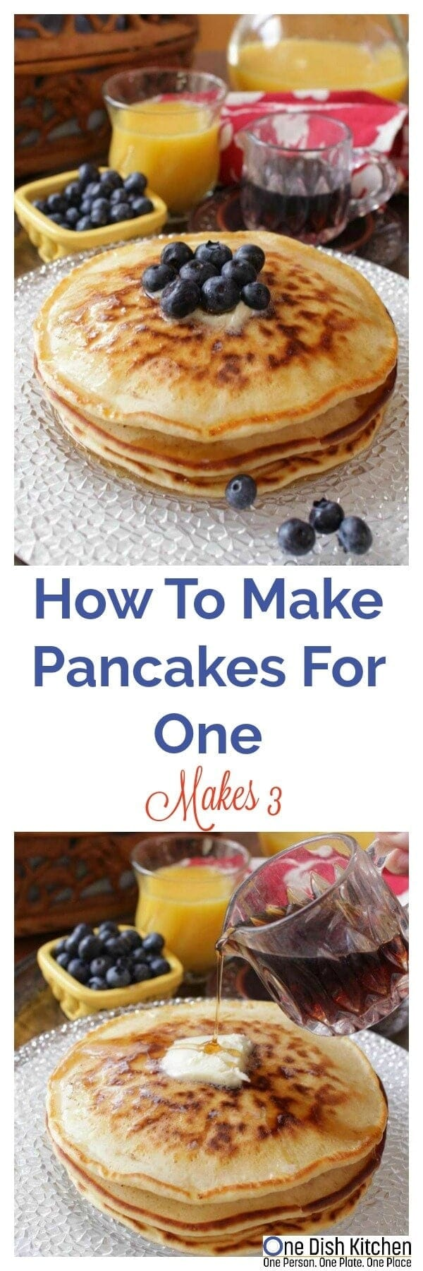 How to make pancakes for one single serving recipe one dish kitchen how to make pancakes for one this easy recipe makes a small batch of pancakes ccuart Choice Image