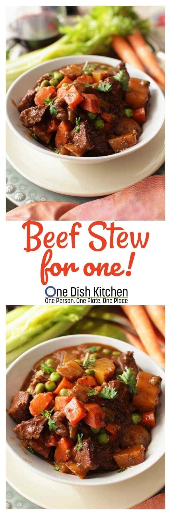 Beef Stew For One! | One Dish Kitchen
